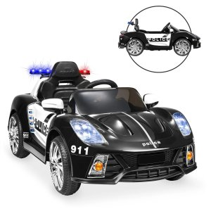 Best Choice Productscode: DMPOLICE12V Kids Police Sports Car Ride-On w/ AUX Port, Parent Control, Sounds