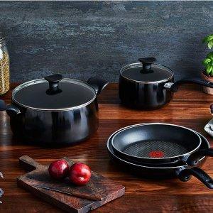 $119.97(原价$149.97)T-fal 不粘锅10件套 散热均衡耐用易清洗 红点专利厨房必备