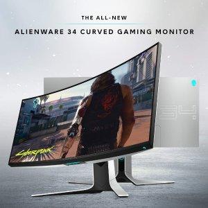 $849.99 收新款34吋外星人电竞显示器Amazon网一电脑、游戏外设、鼠标键盘、耳机显示器促销 价格超低
