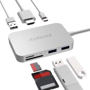 $23.79dodocool Aluminum Alloy 7-in-1 USB-C Hub