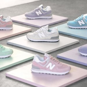 无门槛8.3折 £62收574樱花粉New Balance全场正价区大促 运动鞋也能这么好看