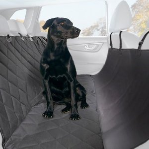 Plush Paws Products Quilted Hammock Car Seat Cover, Black, Regular - Chewy.com