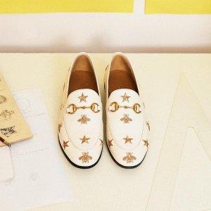 定价优势 小白鞋$445Gucci 鞋履专场 经典乐福鞋、蜜蜂小白鞋全都有