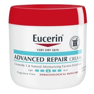 $8.88(原价$13.99) 近期好价Eucerin 优色林 密集修复润肤霜大罐装 454g