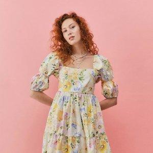 2.5折起 £16粉色小裙子Urban Outfitters 连衣裙大促 绝美新款碎花裙、学院风超低价