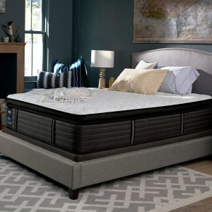 Extra 25% OffSealy Response Premium 16 in. Twin Queen Euro Pillowtop Mattress with 5 in. Low Profile Foundation Set