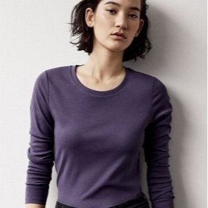 $9.9+Free ShippingUniqlo Cotton Long Sleeve T-shirts Flash Sale