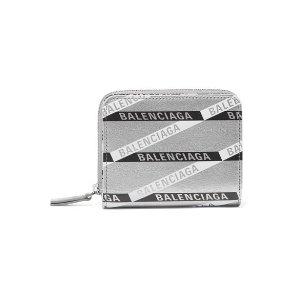 BalenciagaEveryday printed metallic 钱包