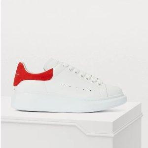 Alexander McQueen凑单$10,满$500立减$100红尾小白鞋