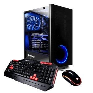 $799 (原价$1249.99)补货:iBUYPOWER 台式机(Ryzen 7 1800X, 16GB, RX580, 120GB+1TB)
