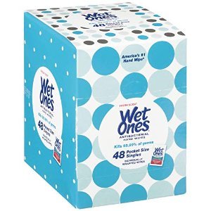 $3.44Wet Ones Antibacterial Hand Wipes Singles, Fresh Scent, 48 Count