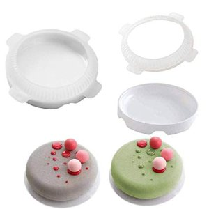 YIYEZI Flat Top Round Shaped Small Ball Silicone Cake Molds For Mousse Dessert Bakeware (White): Amazon.com: Gateway