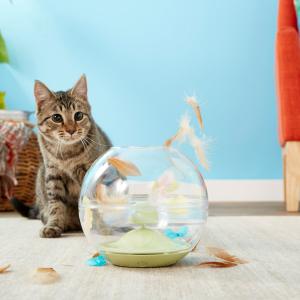 低至4.3折Chewy 多款猫咪电子智能玩具促销 主子在家不寂寞