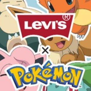 €29收自定义T恤Levi's x Pokemon合作款来袭 童年的快乐源泉 超萌预警
