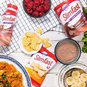 低至6折 £4.9起SlimFast 英国国民超火代餐品牌 减脂奶昔、零食热卖