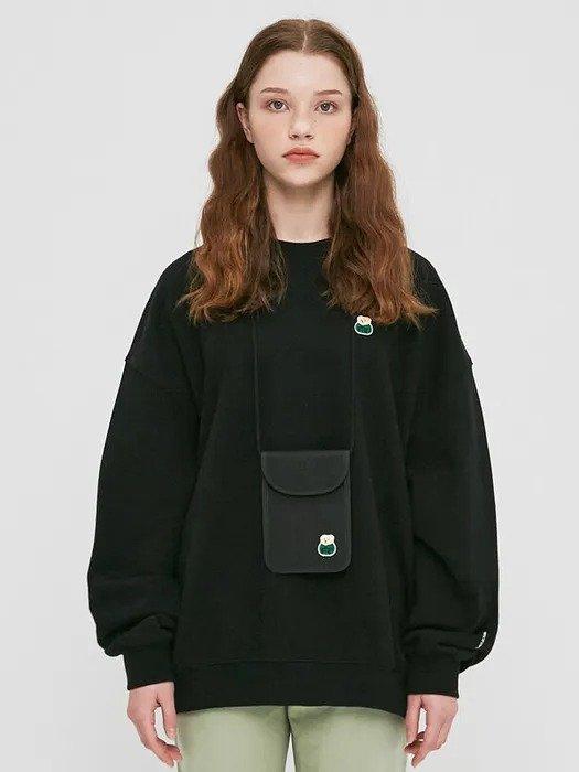 Bear Patch 黑色小熊卫衣