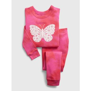 GapExtra 10% Off With Code BESTbabyGap 100% Organic Cotton Butterfly Graphic PJ Set
