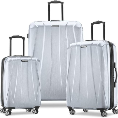 $184.91Samsonite Centric 2 Hardside Expandable Luggage with Spinner Wheels, Silver, 3-Piece Set (20/24/28)