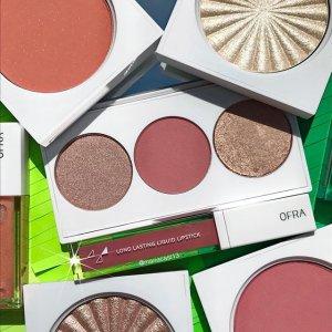 低至5折 卸妆仅$7OFRA Cosmetics 可欧美可日韩的彩妆 收持妆唇釉、明星修容盘