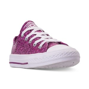 4c354f01a7923 ConverseLittle Girls  Chuck Taylor All Star Party Dress Ox Casual Sneakers  from Finish Line