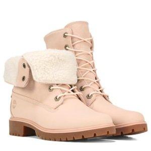 Timberland只能作为首双Jane女款粉色翻靴