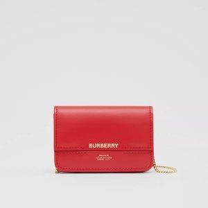Burberry红色链条卡包