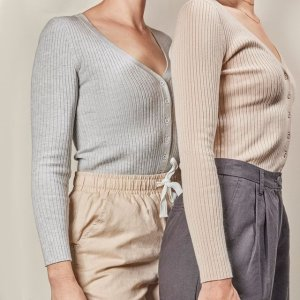 新款享7折+限时免邮Nudelucy 平价简约风 衣橱里的百搭基础款 封面款针织衫$55