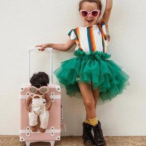 $84(原价$105)Olli Ella 复古儿童行李箱 孩子的时髦随身登机箱