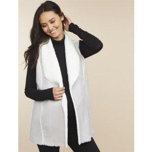 MotherhoodFaux Fur Maternity Vest
