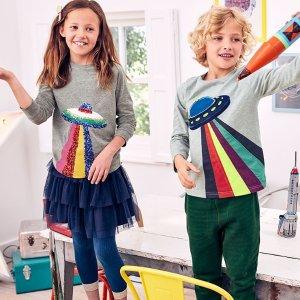 8折无税 太空系列图案推新款上新:Mini Boden 秋季童装上市,高颜值高品质英伦范