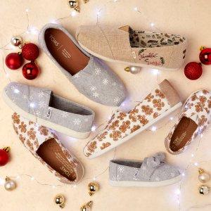 促销款额外7.5折+包邮TOMS官网 童鞋热卖,妈咪可穿大童凑亲子款