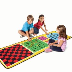 低至5折 + 额外8.5折Melissa & Doug 儿童玩具清仓区特卖,封面大型4合1棋盘毯$12