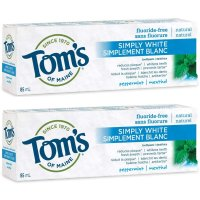 Tom's of Maine 薄荷味亮白牙膏  85mL x 2个装
