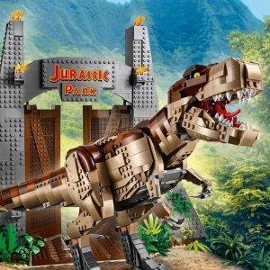 $299.99 VIP已可购买预告:LEGO官网 侏罗纪公园 暴走霸王龙75936,7月1日上市