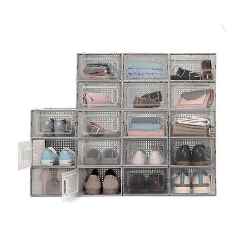 透明鞋子收纳盒 6个