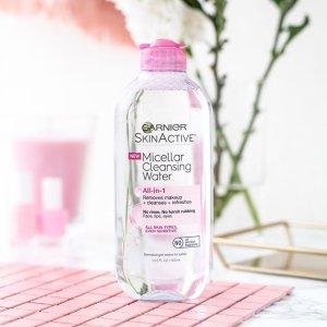 $6.26(原价$8.47)Garnier 卡尼尔粉色卸妆水特卖 温和清洁 平价好用