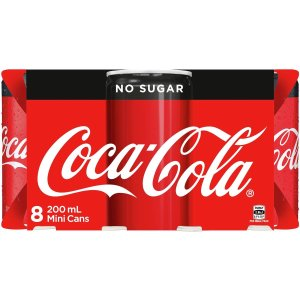 Coca-Cola无糖可乐 8x200ml