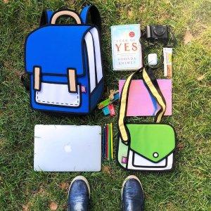 满$200立减$50 包邮潮牌 Jump From Paper 儿童背包,2D风格超抢镜