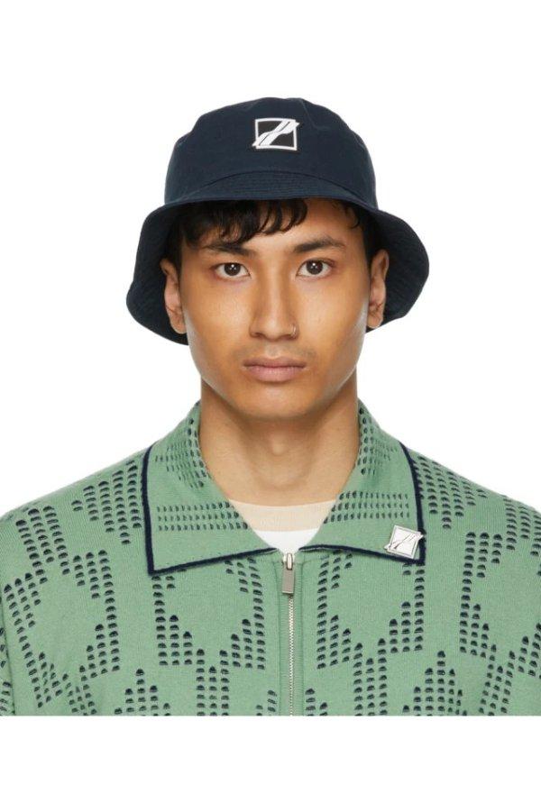 Navy Square Logo 渔夫帽