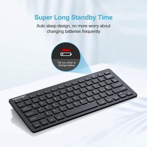 库存不多,手慢无!折后€14TECKNET 蓝牙键盘 超薄简约 续航一年 连接无延迟 兼容性强