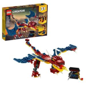 $15(原价$24.99) 234块积木补货:乐高Creator系列 31102 三合一 可拼飞龙、剑齿虎、蝎子
