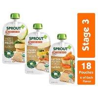 Sprout 有机三段果蔬泥,18袋