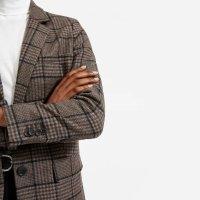 Everlane 棕色格子西装外套