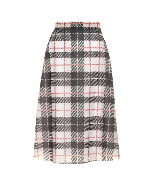 格纹羊毛裙