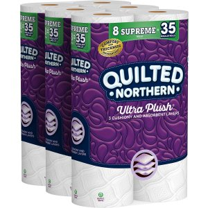 Quilted Northern Ultra Plush Toilet Paper, 24 Supreme Rolls