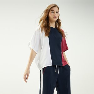 TommyOrganic Cotton Colorblock Top | Tommy Hilfiger