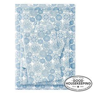 StyleWellTwin 蓝色印花床单3件套