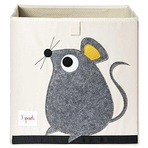 3 Sprouts老鼠圖案布藝收納盒/存儲盒