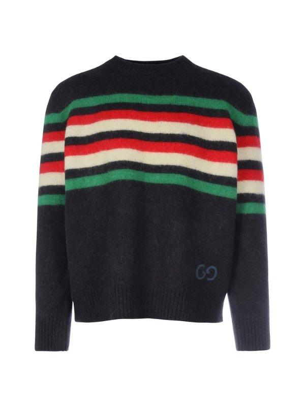 Striped GG 条纹毛衣