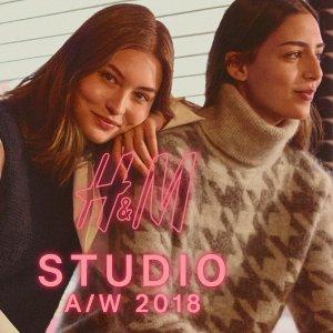 £24.99起 复古风羊绒外套毛衣围巾全都有上新:H&M STUDIO 2018秋冬新款上市 从经典美剧中汲取灵感